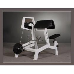 Maszyna na biceps dźwigniowa z tulejami na krążki z chwytem giętym N1657-0
