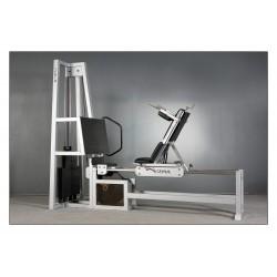Suwnica pozioma z łańcuchem wyciskanie nogami z regulowanym siedzeniem na prowadnicach