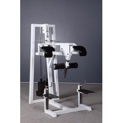 Maszyna na pośladki stojąc z regulacją podparcia stóp