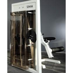 Maszyna na mięśnie brzucha siedząc ściąganie z góry i dołu