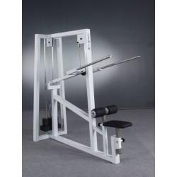 Maszyna na triceps wyciskanie w dół z regulacja położenia siedzenia i wysokości podparcia ud
