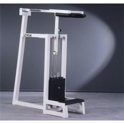 Przyrząd na mięśnie łydki stojąc z prętami na krążki, stos specjalny 145kg