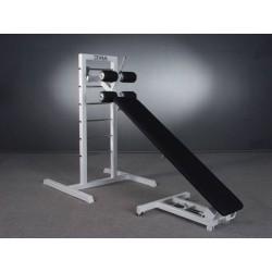 Ławka skośna/pozioma do ćwiczenia mięśni brzucha wielofunkcyjna ze stojakiem