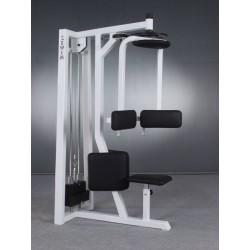 Twister ze stosem siedząc na mięśnie skośne brzucha, górne podparcie klatki piersiowej