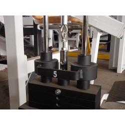 Nakładka na odważnik prowadzący stosu SEWIM zmniejszająca-zwiększająca wagę o 5,00kg